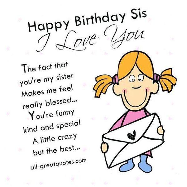 Funny Birthday Quotes For Sister Linda Happy Birthday Sister Meme