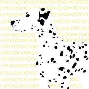 Ley de la proximidad 1: La manera en las que están colocadas las manchas forman la imagen de un perro dálmatada