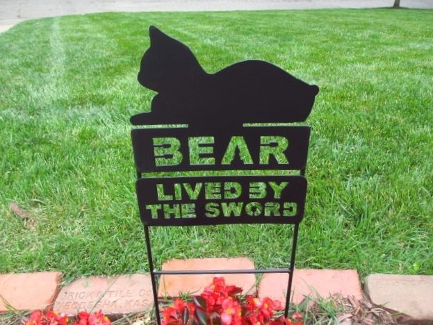 Manx Cat Kitten Metal Signs Pet Memorial Plaque Sign Memorials Grave Marker  #Metal