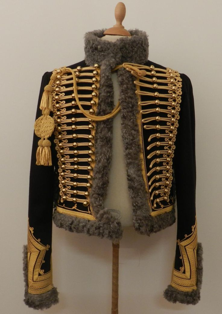 DOLMAN AND PELISSE FOR CAPTAIN AIDE DE CAMP. This looks like a great quality repro.