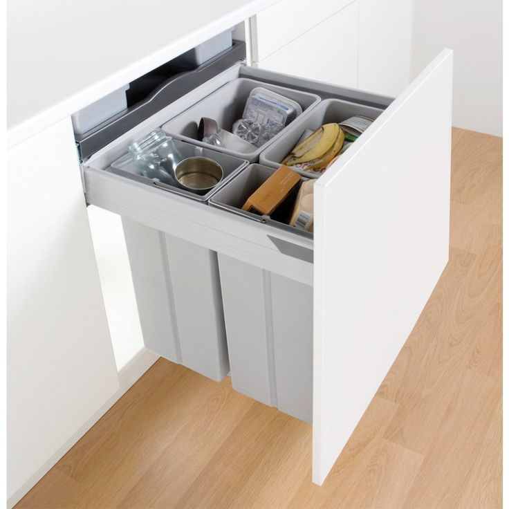 Wesco Pullboy Z - Four Section Pull Out Recycling Bin 84L, 600mm Door - Binopolis