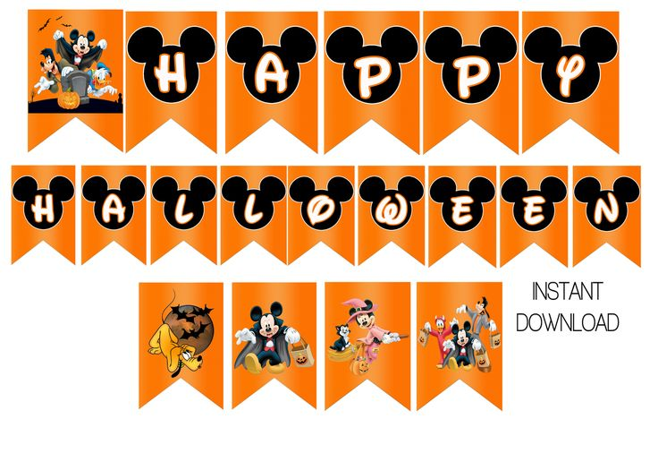 happy halloween mickey mouse banner - Happy Halloween Birthday