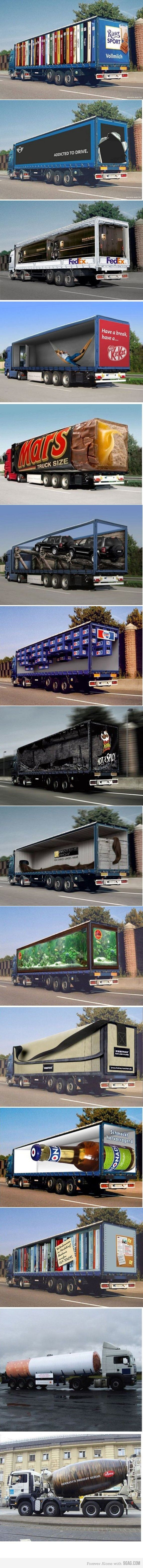 Ads on trucks