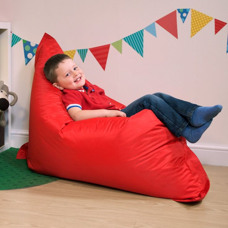 Kids Baz Bag | Red Bean Bag | BeanBagBazaar for Kids Bean Bags | Red Bean Bags
