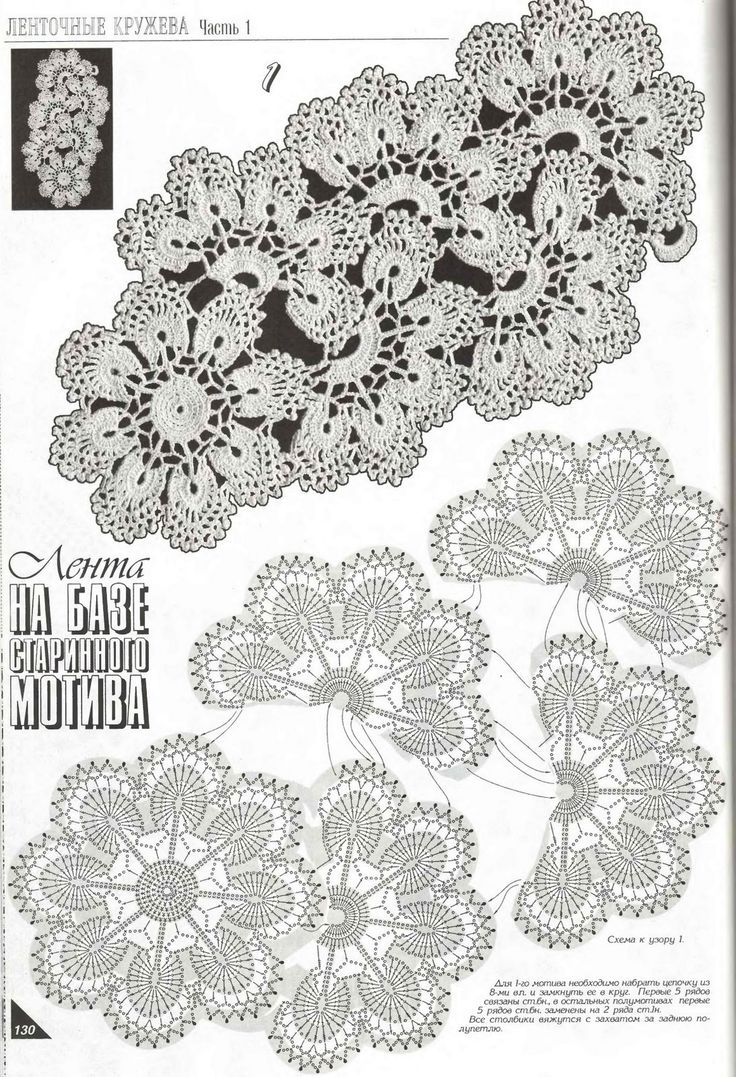 more beauty crocchet flowers strips | make handmade, crochet, craft
