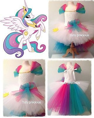 Princess Celestia My Little Pony Inspired tutu dress - dressing up costume in Clothes, Shoes & Accessories, Fancy Dress & Period Costume, Fancy Dress   eBay