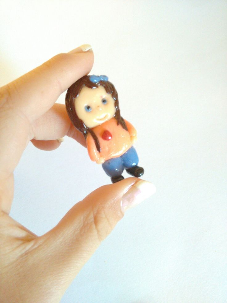 Little chibi of me! Made from polymer clay❤
