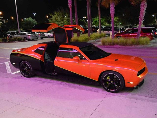 Somebody Sliced This Dodge Challenger In Half And Added Gullwing Rear Doors