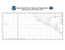 East Pacific Tropical Cyclone Tracking Chart