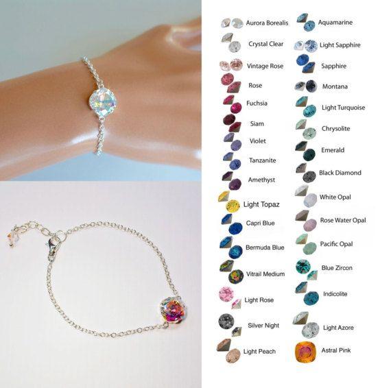 Choose Your Colour   Handmade Swarovski Crystal Fancy Square