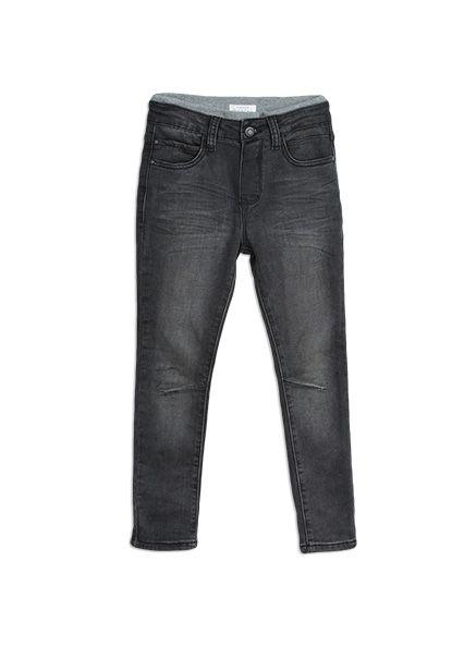 Black knit jeans at Pumpkin Patch boy range. Caviar sizes 12-18m to 5. Style W6TB65011.