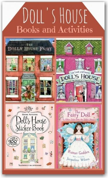 These books about doll's houses are so lovely - really inspiring to see how you can make your own doll's house from just a cardboard box.