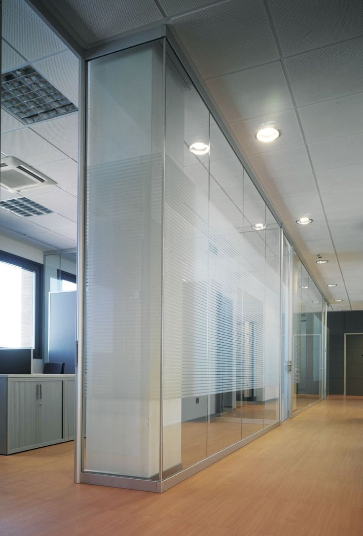 Monolithic glazed partition