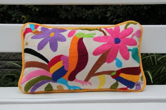 Yellow  Multi colored  Otomi Pillow ShamReady to ship by CasaOtomi, $72.00