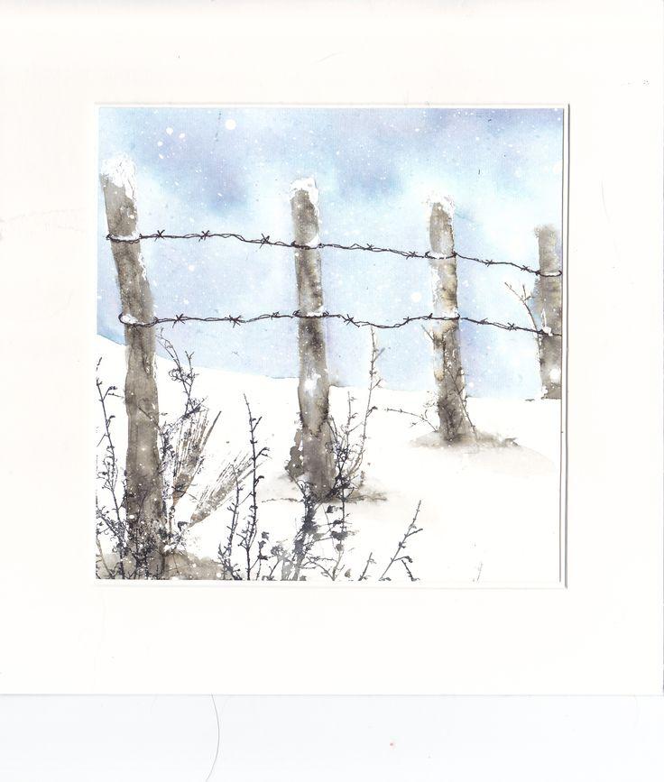 Clôture en hiver
