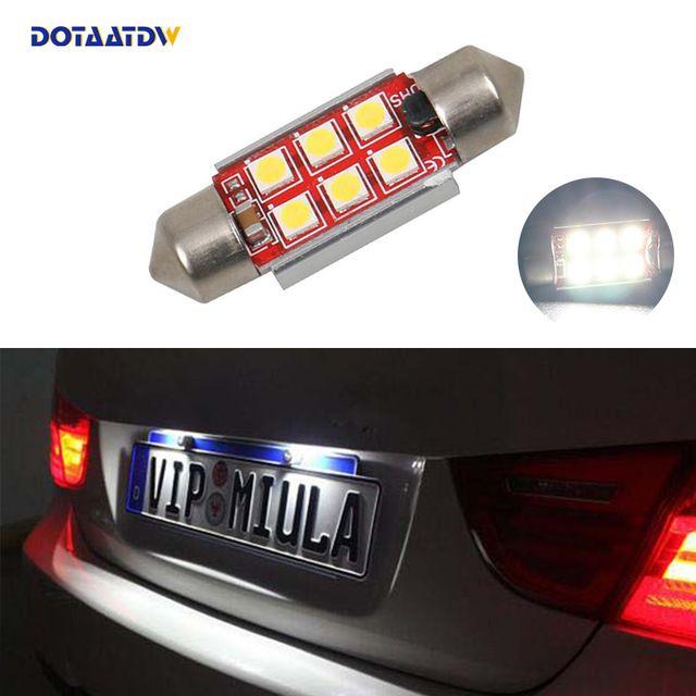 1x Car Led Error Free 36mm C5w 3030 Smd Lamp 12v License Number Plate Light For Bmw E46 E90 E92 E39 E53 E60 E71 Mini Cooper Review Number Plate Car Led
