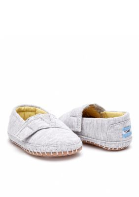 Toms  Gray Jersey Tiny Toms Crib Aplargatas - Gray - 4M Youth