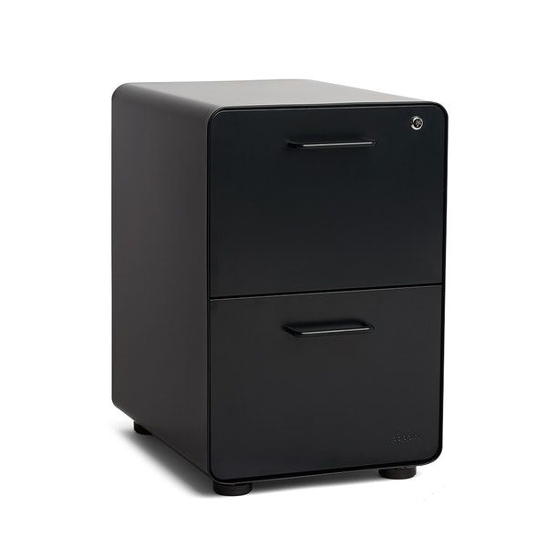 Black Stow 2-Drawer File Cabinet,Black,hi-res