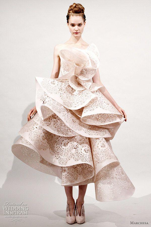 Marchesa 2011 Spring/Summer ready-to-wear collection -  beautiful ruffle cutout dress