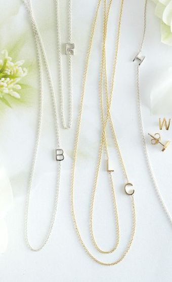 Love these sweet initial necklaces by Maya Brenner http://rstyle.me/n/m6js2nyg6