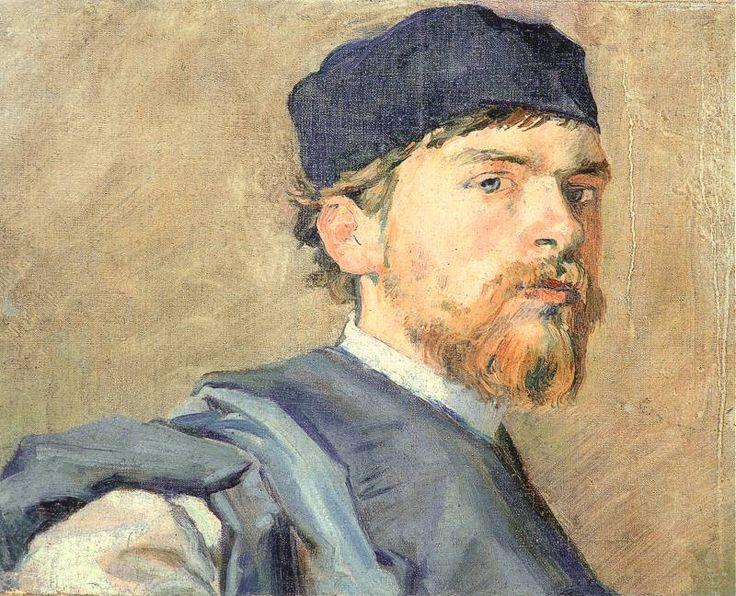 Stanisław Wyspiański (Polish, 1869-1907) 'Autoportret' 1893-94. Olej na płótnie. 35 x 46,5 cm. Muzeum Narodowe, Wrocław