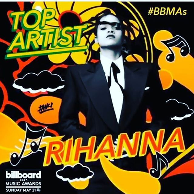 I'm so excited to be nominated at this year's Billboard Music Awards!!! Shout out to my fans for being sturdy af!!! @bbmas #ANTI 🎈