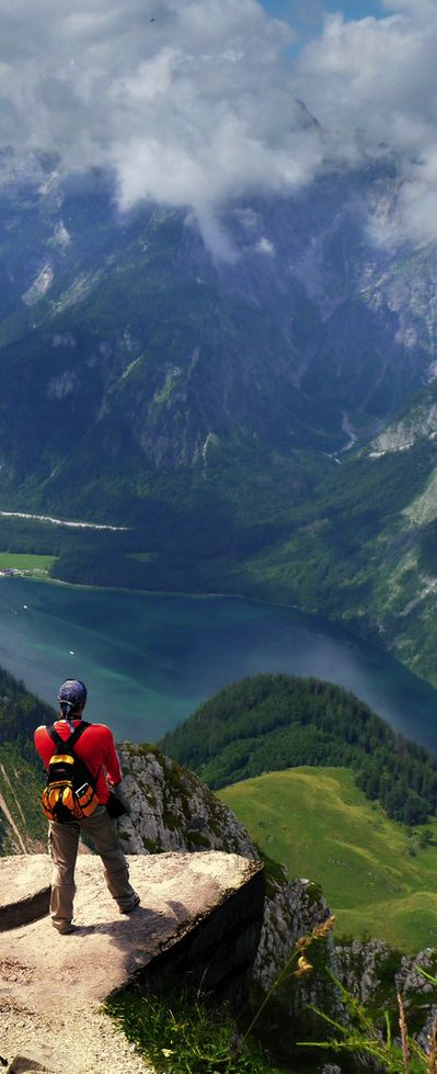 Feeling on top of the world, Berchtesgaden National Park, Germany