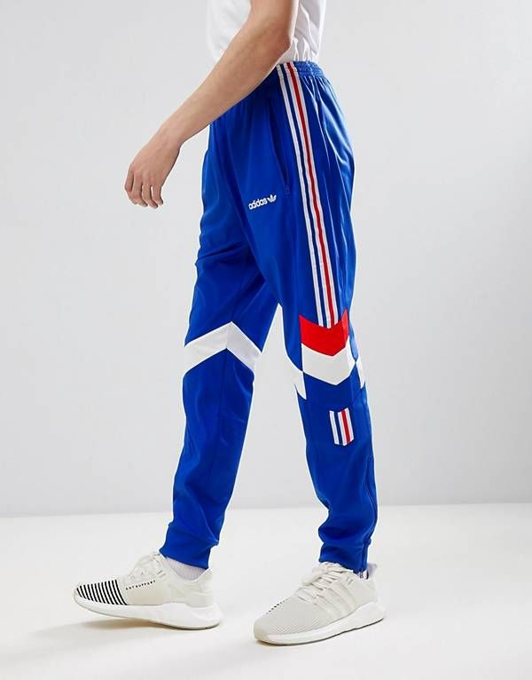 adidas Originals Vintage Tapered Joggers In Blue CE4854 adidas Originals Vintage Tapered Joggers In Blue CE4854
