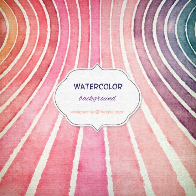 Fondo multicolor de acuarela Vector Gratis