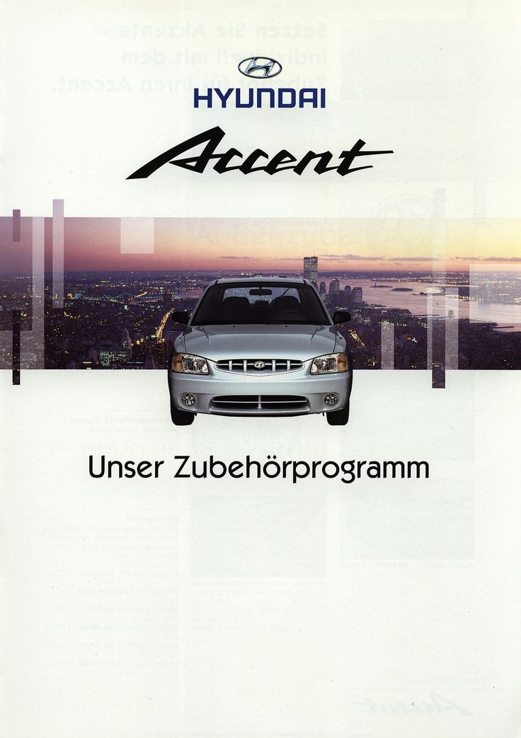 https://flic.kr/p/FBBPjC | Hyundai Accent Unser Zubehörprogramm; 1999 | front cover car brochure by worldtravellib World Travel library