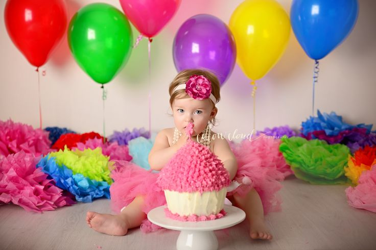 Campbelltown Cake Smash Photography by Cotton Cloud Photography. Rainbow smash cake