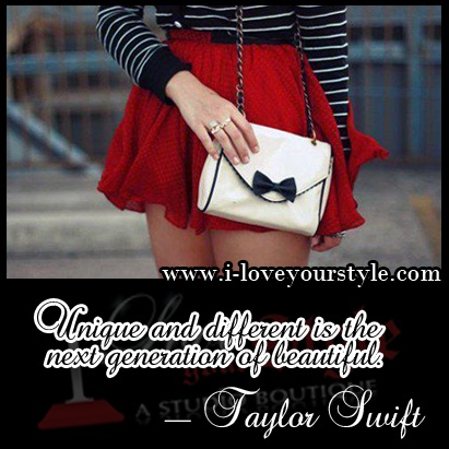 """""""Unique and different is the next generation of beautiful."""" ~Taylor Swift"""