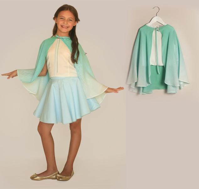 Serin akşamüstleri için ideal bir bluz.  Üstelik üzerindeki şifon sayesinde birlikte kendini bir masal prensesi olarak hayal edebilecek... www.lialea.com'da!