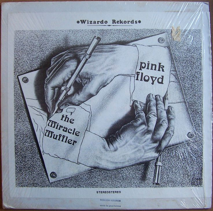 1970s Pink Floyd - The Miracle Muffler (bootleg) [Wizardo Rekords]  original artworks: M.C. Escher - Drawing Hands (1948) #albumcover
