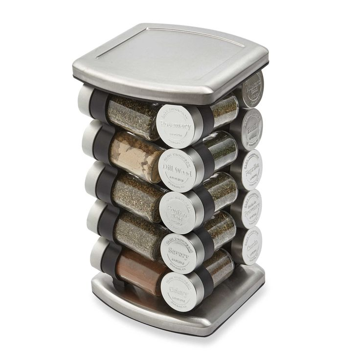 Olde Thompson 20 Jar Embossed Revolving Spice Rack
