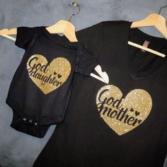 Godmother  + Goddaughter T-shirt Package, Godmother Gift, Will you be my Godmother?, Godmother shirt, Gift for friend, Mommy and Me, Baptism