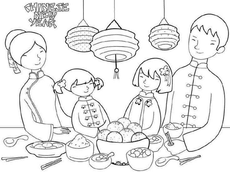 Chinese New Year Colouring Sheets Free