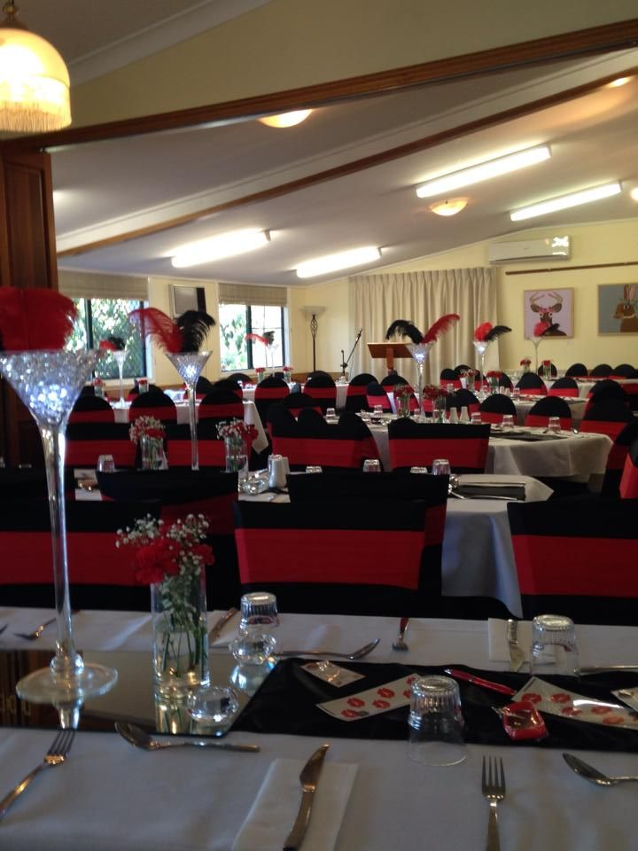 Red & Black Charity Dinner - by Toowoomba White Wedding and Event Hire - Weddings, Corporate Functions, Parties, Gala Events {Toowoomba & Surrounding Areas}