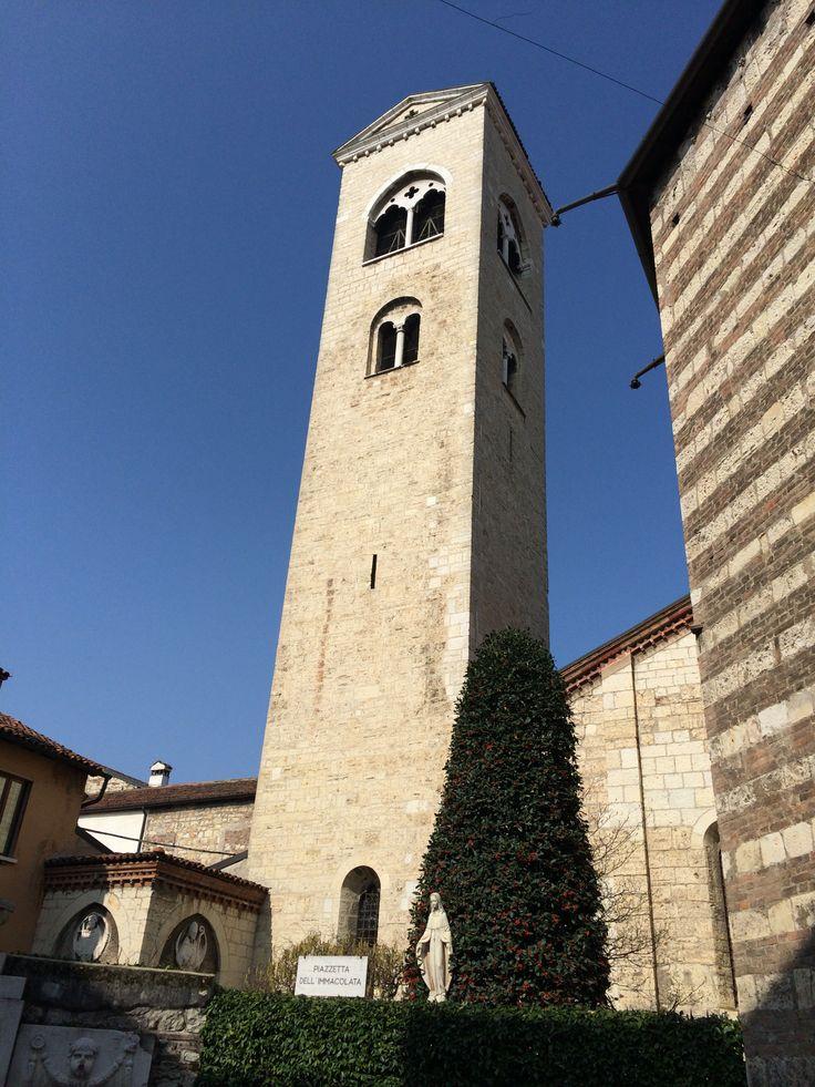 Torre campanaria e scorcio dell'abside della chiesa di San Francesco, Brescia