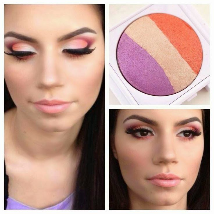 I love this trio. I have been all about the color of the summer: orange. For this beautiful eye look start with the lightest shade on the inner corners. Then...  http://blog.unitwise.com/2014/06/ways-to-play-baked-eye-trios.html
