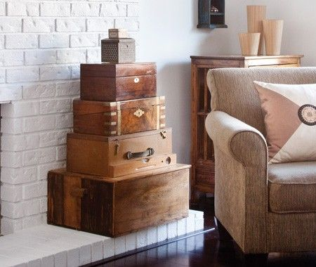 Vintage Wood Boxes | photo Kim Christie | House & Home