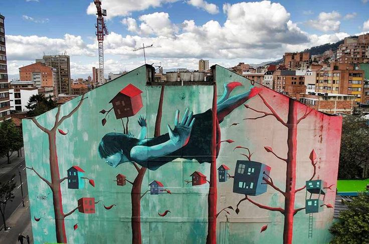 by Zokos - New mural - Bogota, Colombia - 07.09.2014