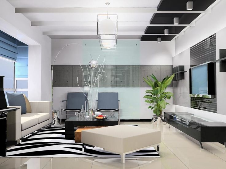 Living Room Furnished With Leather Finish Sitting Elements Above Ceiling Raised Level Hanging