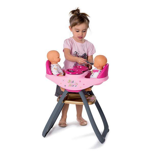 Baby Nurse Chaise Haute Jumeaux Transformable En Bascule 4 Accessoires Inclus Chaise Haute Chaise Haute Poupee Deco Salle De Jeux