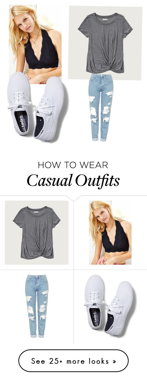 """""""casual back to school"""" by liliannherreraa on Polyvore featuring Pins & Needles, Abercrombie & Fitch, Topshop and Keds"""