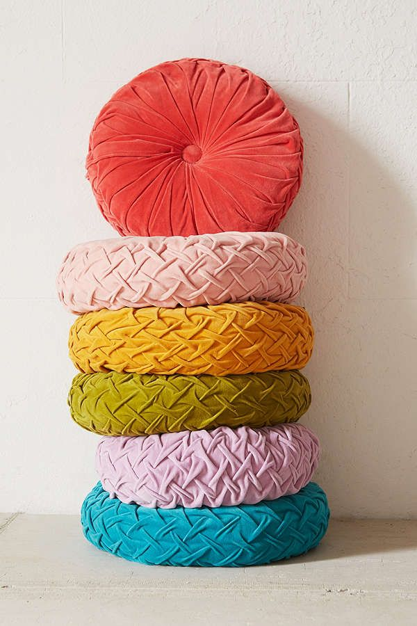 Urban Outfitters Round Pintuck Pillow $39.00 2 for $69