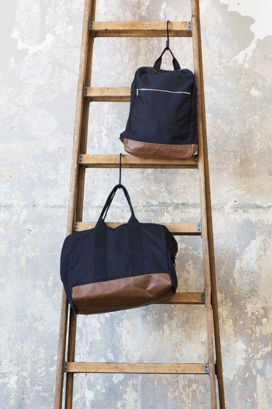 Bag Mörkblå/Brun
