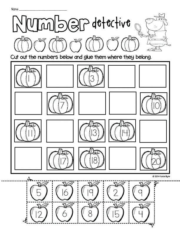 Print and Go! Fall BUNDLE - all the math and literacy practice pages you need for fall in your kindergarten classroom. Perfect for homework, morning work, and centers.  Buying in bundles saves your money and more importantly, your time. Happy teaching! $ (Click the arrow with GIF to see all the images on this pin.)