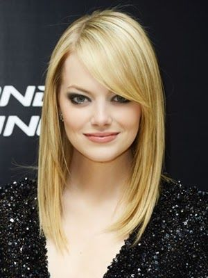 Look cortes de pelo 2014 largo: Haircuts, Hairstyles, Hair Cut, Side Swept Bangs, Side Bangs, Hair Style, Long Bobs, Wigs, Emma Stones