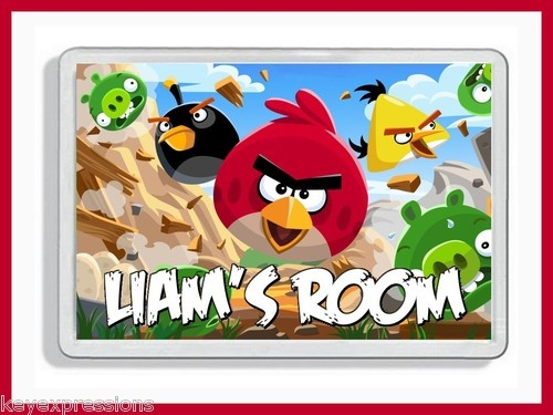PERSONALISED ANGRY BIRDS BEDROOM DOOR PLAQUE (and Matching Items) | eBay